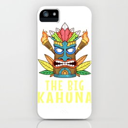Funny Tiki The Big Kahuna Gift Product Hawaiian Island Design iPhone Case