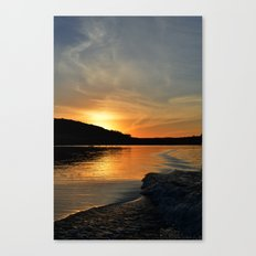 a sunset in your wake.  Canvas Print