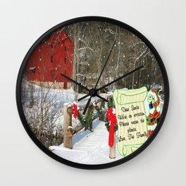 Santa, Please Water the Plants Wall Clock