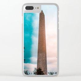 Washington Monument Clear iPhone Case