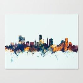 Leicester England Skyline Canvas Print