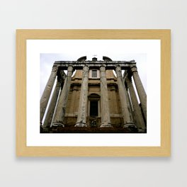Temple of Antoninus (Rome, Italy) Framed Art Print