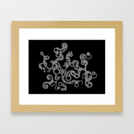 Alien abstract organic structure. Framed Art Print