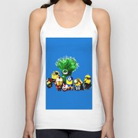 avenger Tank Tops featuring Avenger-mini ons mashup by BURPdesigns