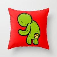 butt Throw Pillows featuring Butt-On by Artistic Dyslexia