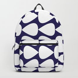 Plectrum Pattern in White on Delft Navy Blue Backpack