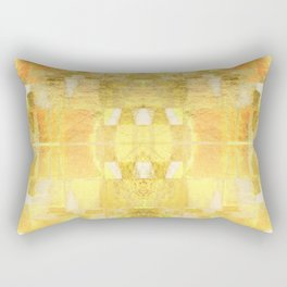 Babalon - Gold Metallic Soft Mid Century Pattern Rectangular Pillow