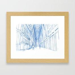 BluePrints | Brookfield Place Glass Arcade - Toronto Framed Art Print