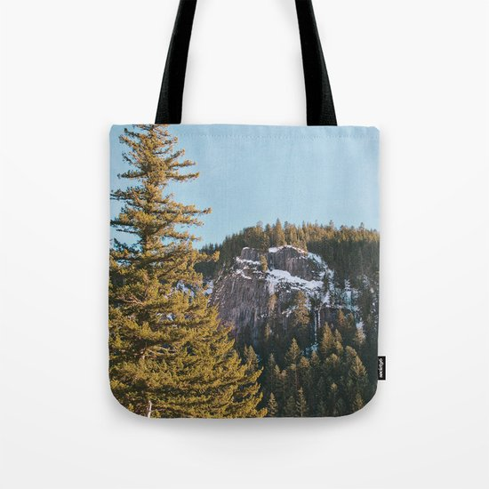 Trees in the Mountains Tote Bag