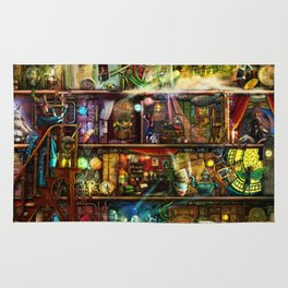 The Fantastic Voyage - a Steampunk Book Shelf Rug