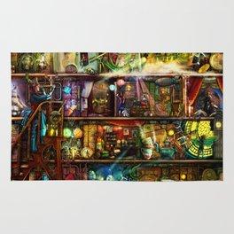 The Fantastic Voyage - a Steampunk Book Shelf Rug