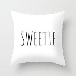 Sweetie Throw Pillow
