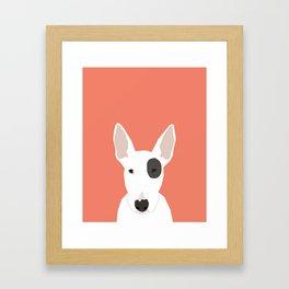 Bull Terrier cute puppy dog art print pet gift pets dog breed animal children kids illustration  Framed Art Print