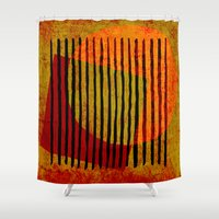 copper Shower Curtains featuring rusty copper by Ioana Luscov