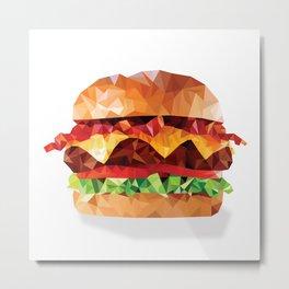 Geometric Bacon Cheeseburger Metal Print