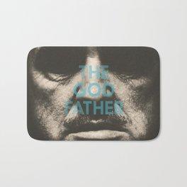 The Godfather, minimalist movie poster, Marlon Brando, Al Pacino, Francis Ford Coppola gangster film Bath Mat