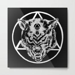 Staring wolf Metal Print