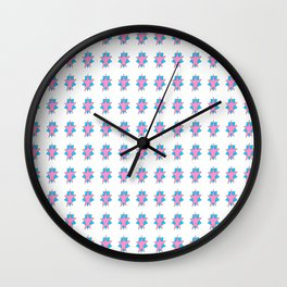 pink star 2-sky,light,rays,hope,pointed,mystical,estrella,nature,spangled,girly,gentle,star,sun Wall Clock
