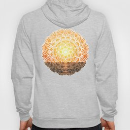Fiery Orange Sunset Mandala Hoody