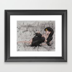 Cape and Cowl Framed Art Print