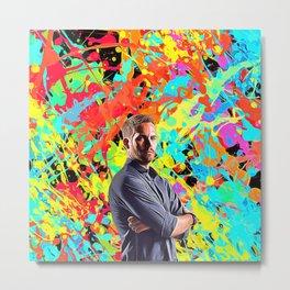 Paul Walker - Celebrity Art Metal Print