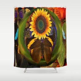Butterfly and the Flower Shower Curtain