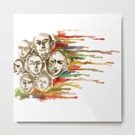 faces of life, happiness, love, faith Metal Print