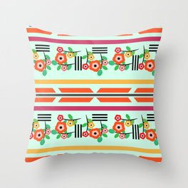 Geometric floral Throw Pillow