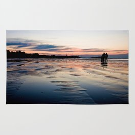 Saint Malo au coucher du soleil / Sunset in Saint Malo Rug