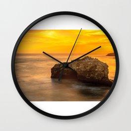 Golden Coast Wall Clock