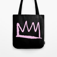 crown Tote Bags featuring Crown by schillustration