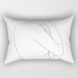 Figure line drawing illustration - Dorri Rectangular Pillow