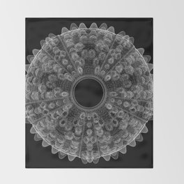 GEOMETRIC NATURE: SEA URCHIN b/w Throw Blanket