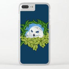 Mister Blue Eyes (Snowy Owl) Clear iPhone Case
