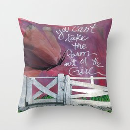 Farm Girl by Seattle Artist Mary Klump Throw Pillow