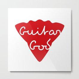 Guitar God Metal Print