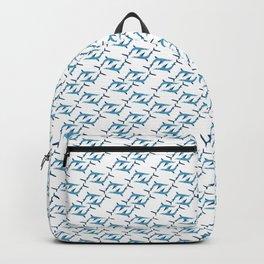 Blue Shark Pattern Backpack