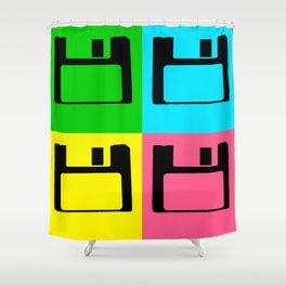 Floppy Disk Pop Art Number 1 Shower Curtain