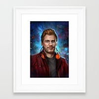 starlord Framed Art Prints featuring Starlord by Fernanda Suarez