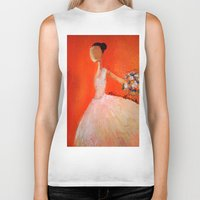 ballerina Biker Tanks featuring Ballerina by Madison R. Leavelle