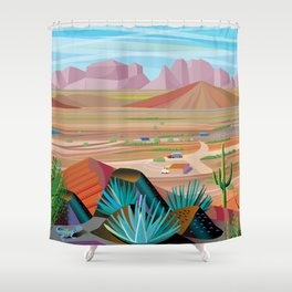La Pimeria, West Phoenix Shower Curtain