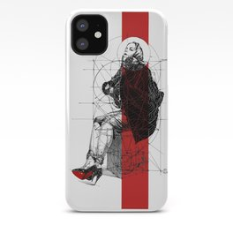 Red Lines. T. Golden Ratio. Baphomet. Yury Fadeev iPhone Case