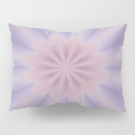 Pink and Lilac 3D Flower Three Pillow Sham