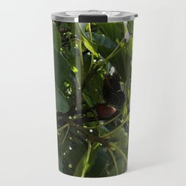 Monarch Butterfly In A Fig Tree Travel Mug