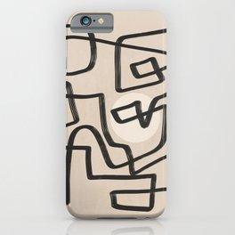 Line art improvisation 2 iPhone Case