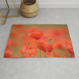 Common red poppies 1876 Rug
