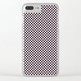 Ballet Slipper and Black Polka Dots Clear iPhone Case