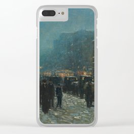 Broadway and 42nd Street,1902 by Childe Hassam Clear iPhone Case