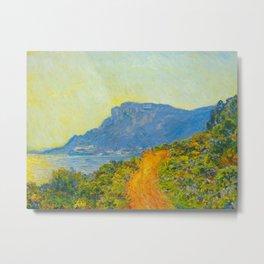 Claude Monet Impressionist Landscape Oil Painting La Corniche near Monaco Metal Print