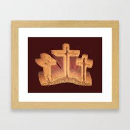 Three Crosses at Calvary Framed Art Print